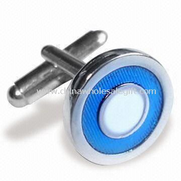 Cufflinks with Silver Finish Comes in Various Sizes