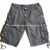 100% Cotton Mens Casual Shorts with Many Pockets and Garment Wash images