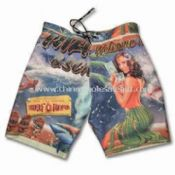 Mens Hawaii Allover Printed Boardshorts Inside with Mesh Slip and Patch Pocket at Back images