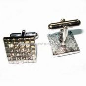 Silver Plated Cuff Link in Fashionable Design images