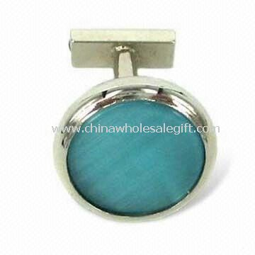 Zinc-alloy Cuff Link with Silver Plating