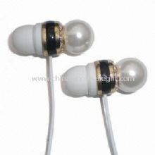 Wired Earphones with Pearl, for MP3, MP4, iPad, iPhone images