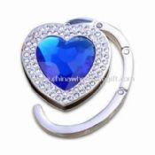 Foldable Heart Bag Hanger with Crystal and Coating Finish images