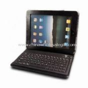Leather Case for Apples iPad with Bluetooth Keyboard Built-in Lithium Battery images
