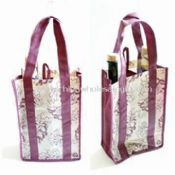 Wine Carrier for 2 Bottles Made of 80gsm Non Woven PP images
