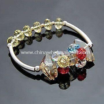 Muodikas kristalli rannerengas tehty kristalli helmiä
