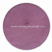 Woven with PP Threads Round Placemat in Purple images