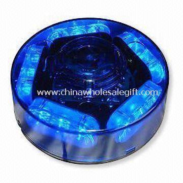 LED Car Strobe Light in Red, Blue or Amber