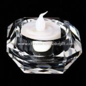 Candle Holder with Diamond Facet Cutting Made of Optical Crystal images