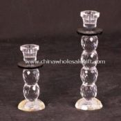 Crystal Candle Holders with Two Sets Available in Clear images