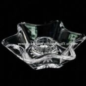 Crystal Glass Holder for Stick Candles images