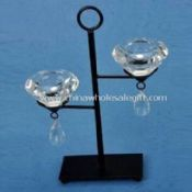 Crystal/Metal Candle Holder with Two Tealight images