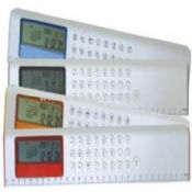 L shape ruler calculator 30cm scale, 8 digit ruler calculator with calendar, world time, alarm clock images
