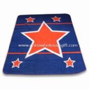 Fleece Blanket with Zig Stitching and Customized Printing images