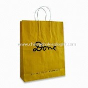 Kraft Paper Bag with PP Silk Handle, Many Christmas Designs are Available images