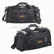 Travel Duffel Bag with Adjustable Shoulder Strap and Zipper Closures images