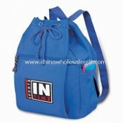 Sports Drawstring Backbag with Two Open Side Pockets images