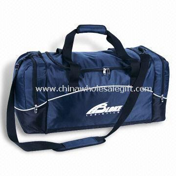 Main Zippered Compartment Gym/Sports Bags, Made of 420D Nylon