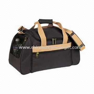 Sports/Duffle Bag with U-shaped Zippered Main Compartment