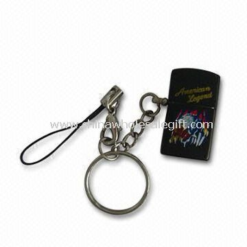 Cigarette Lighter in Zippo Shape with Logo Printed and Keychain