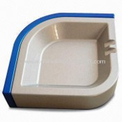 Metal Cigarette Ashtray, Made of Zinc Alloy, Available in Blue and Silver images