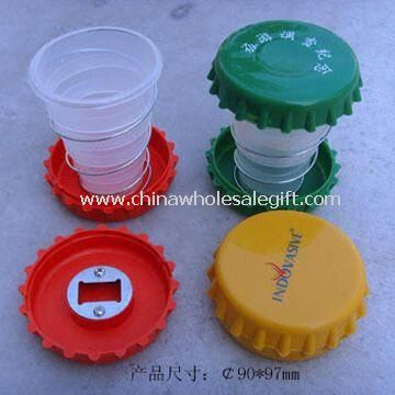 Advertising Plastic Folding Travel Cup, Your Logo Accepted