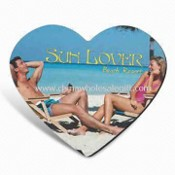 Heart-shaped Mouse Pad, Made of Cloth, Lycra, Rubber, and Sponge images