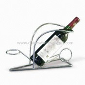 Metal Household Wine Shelf, Customized Designs and Sizes are Welcome images