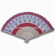 Paper Hand Fan with Bamboo Ribs and Full-color Printing images
