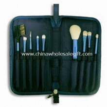 9-piece Convenient Brush Set, Includes Powder, Eyeshadow, Pencil Brush, and Lip images
