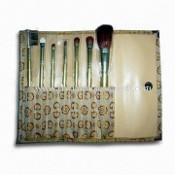 7-piece Convenient Brush Set with Wooden Handle and Aluminum Ferrule images