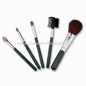 Cosmetic/Makeup Brush Set with Plastic Handle, Made of Goat Hair images