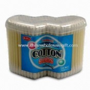 Plastic Stick Cotton Buds with 300 Pieces, Packed in Double Heart-shaped Box images