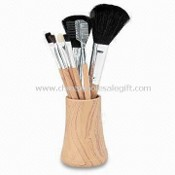 Professional Cosmetic/Makeup Brush Set, Made of Goat Hair, Available with Plastic Handle images