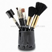 Professional Cosmetic/Makeup Brush Set with Plastic Handle, Made of Double Drown Goat Hair images