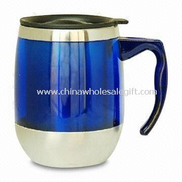 Auto Mug with Stainless Steel, with Skid-proof Bottom and Durable Handle