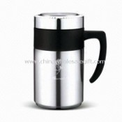 Vacuum Tea Mug/Flask with Filter, Made of Stainless Steel, Available in Capacity of 500mL images