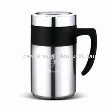 Vacuum Tea Mug/Flask with Filter, Made of Stainless Steel, Available in Capacity of 500mL