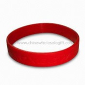 Silicone Awareness Bracelet, Screen Printed, Various Colors are Available images