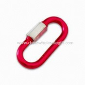 Aluminum Novel Carabiner with Colored Anodized Finishing, Customized Logos Available images