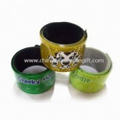 Reflective Snap Wristband with Shinning Powder Inside images