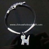 Bracelet, Suitable for Women, Made of Acrylic Stones with Silver Plating images