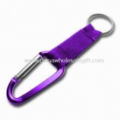 Carabiner Keychain with Strap, Various Attachments and Colors are Available images