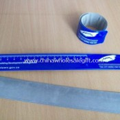 motional Reflective Slap Bracelet with Silkscreen Printing Logo, Measures 3 x 35cm images