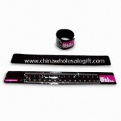 Promotional Reflective Slap Ruler Bracelet with Silkscreen Printing Logo images