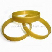Promotional Silicone Wristband, Customers Printed/Embossed/Debossed Logos are Accepted images