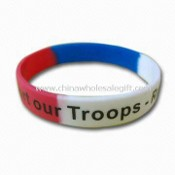 Segmented Silicone Bracelet, Silicone Wristband, Promotional Bracelet, Customers Logo Welcome images