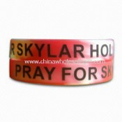 Silicone Bracelet, Made of Soft PVC, Rubber, PP, Plastic or Silicon Material, OEM Orders Welcomed images