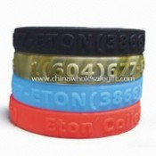 Soft Silicone Bracelet, Customized Designs are Welcome images