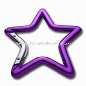 Star-shaped Carabiner Keychain, Comes in Various Attachments and Colors images